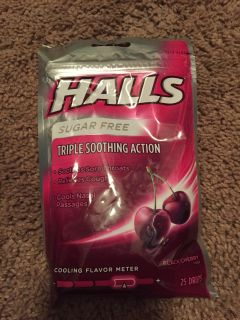 Halls Sugar free cough and sore throat drops - Black cherry 25 count