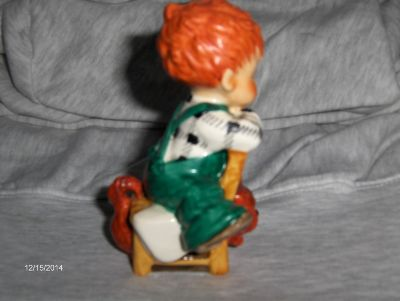 Vintage Very Rare Charlot Byj Hummel Goebel Redhead Figurine