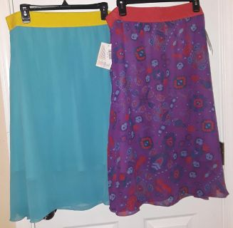 $40 Firm for both new XL Lularoe Lola skirts