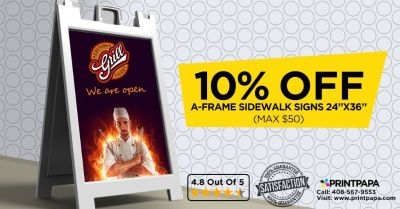 Get 10% off on A-Frame & Sidewalk Signs