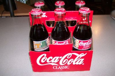 1998 tennessee national champions six pack of coke bottles