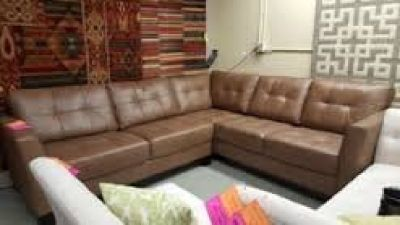 Martino Leather 2-Pc Sectional Sofa Cafe Reg. $3895 Ours $1599