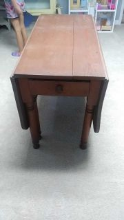 Old sturdy farm table. Nice to refinish