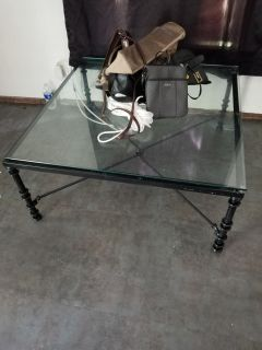 Coffee table and purses