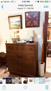 Mid Century Chest of Drawers (just the chest is for sale)