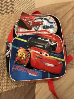 BNWT Toddler Backpack Disney s Cars
