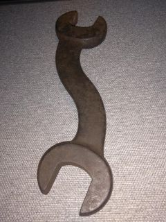 Antique Tool Williams Forged S Curved Double Open End Wrench