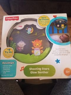 Brand new Fisher-price shooting stars and glow soother