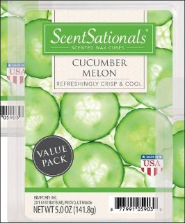 Scent Sationals Cucumber Melon Scented Wax Cubes Melt Aroma Therapy Perfume