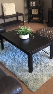 Small wood Coffee table expression color 42x24in