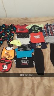 Mostly 9m baby boy clothes set