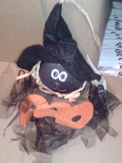 Hanging black character with witch hat nwt