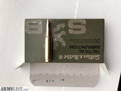 For Sale: 6.5 Creedmoor Ammo Sellitti & Bellot 400 New