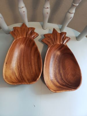 2 Philipine monkey pod wood bowls
