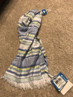 Scarf from Columbia blue / yellow nwt