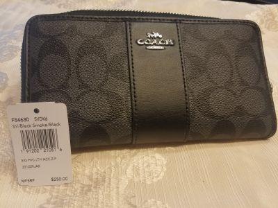New Coach black wallet