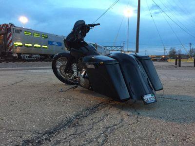 Custom Harley bagger 26 wheel