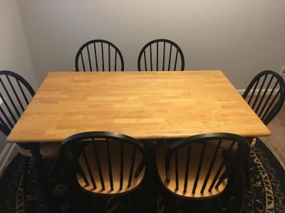 dinning table with 6 chair