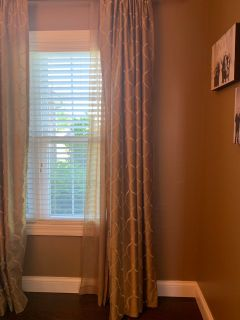 Curtain panels 50in wide by 95in long like new