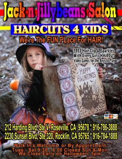 Jack n Jillybeans Salon's HAIRCUTS 4 Kids 786-3888