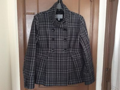 Old Navy gray & black wool coat. Size large. Excellent condition!