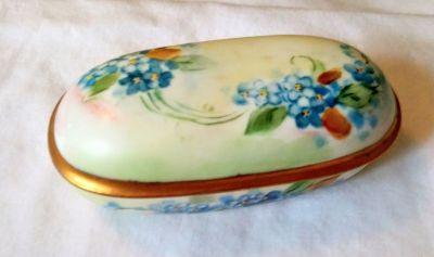 Beautiful Handpainted R.S. Germany Porcelain Trinket Dish