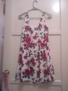 Casual Red Floral H&M dress
