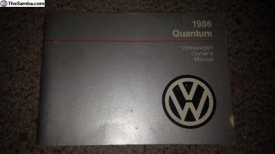 1986 Quantum Owners Manual