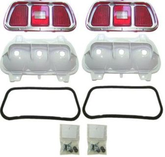 Sell 71-73 MUSTANG TAIL LIGHT LENSES AND TRIM KIT, NEW motorcycle in Sheffield Lake, Ohio, US, for US $294.95