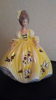 Large Vintage Ceramic Lady Figurine