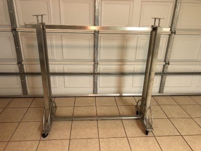 Industrial Clothes Rack on Wheels