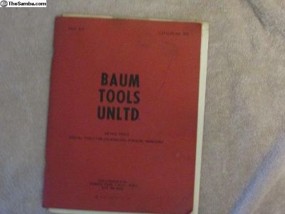 Baum Tools catalog ( from the 70s ?)