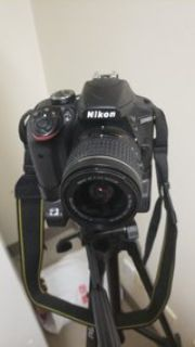 nikon d3400 with battery pack 3 batteries.. and camera bag will include a trypod and a remote