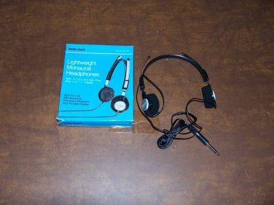 Radio Shack Lightweight Monaural Headphones