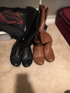 Two pair of boots (black&brown)