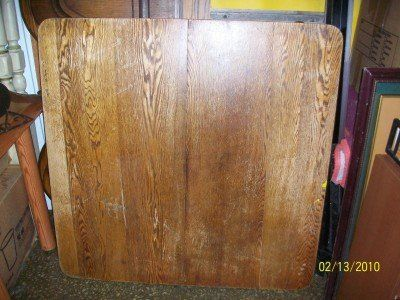 Awesome Antique solid Oak? wood table very large dbl base