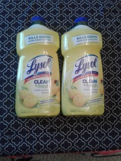 2 Lysol Clean & Fresh Multi-Surface Cleaners New, Factory Sealed $5 for Both