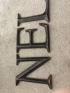 Large letter wall decor
