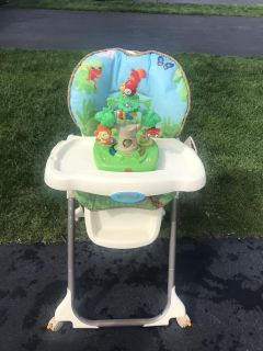 High Chair- fisher price rain forest smoke free home