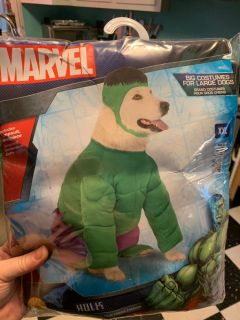 XXL Dog Costume Incredible Hulk NEW!