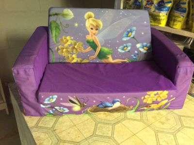 Kids fold out Tinker bell sofa