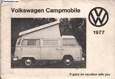 [WTB] 1977 Westfalia Westy Campmobile Instruction Manual