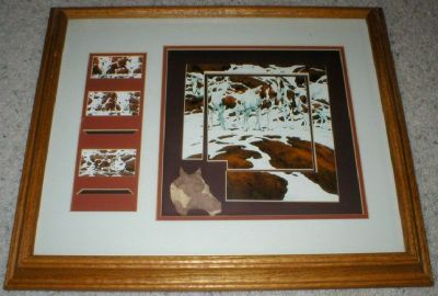 "Bev Doolittle ""Pintos"" Art Print Collage Framed & Matted in Shadow Box"
