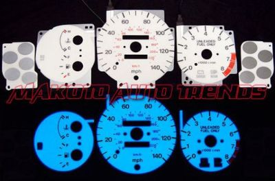 Purchase 6 Color Glow Gauge Indiglo White Face for Mazda Protege 95-96 w/ Dim Switch motorcycle in Monterey Park, California, United States, for US $24.99