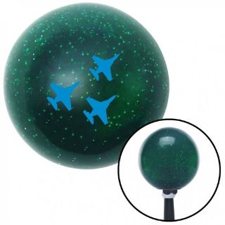 Find Blue Jet Formation Green Metal Flake Shift Knob with 16mm x 1.5 insert gasser motorcycle in Portland, Oregon, United States, for US $29.95