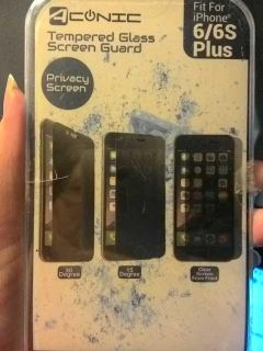 Conic tempered glass screen guard 6/6s plus