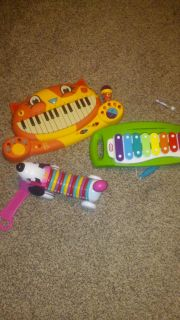 Cat guitar, Abc dog and Piano