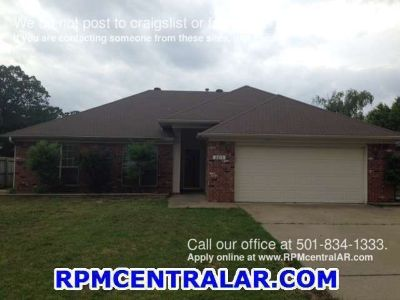 2215 Raintree Dr., Conway AR 72032 - Affordable 3br 2ba with 2 car garage and fenced yard