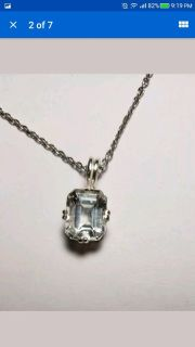 Natural Emerald Topaz necklace, 4.24cts