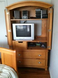 Entertainment center TV  DVD player included